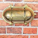Außenwandlampe Messing Maritim Glasschirm Käfig IP64 Schiffslampe Außenleuchte Robust Hauswand Balkon - 3
