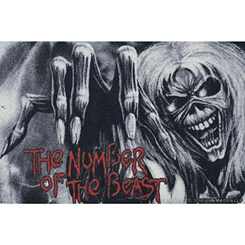Iron Maiden Fussmatte The Number Of The Beast Fußmatte Schmutzmatte Türabstreifer Türmatte Fußabstreifer Teppich doormat