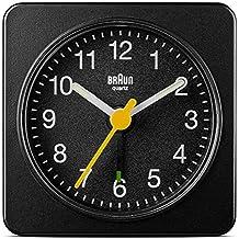 Braun Reloj despertador de viaje, plástico, negro, 2.5 x 5 x 5 cm