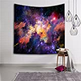 Star Cluster/Space Decor Tapestry, Outer Space Tapestry Decorations Galaxy Stars Universe Milky Way, Bedroom Living Room Dorm Wall Hanging Tapestry-Navy Purple/Berry Turquoise Red(GT01-color)