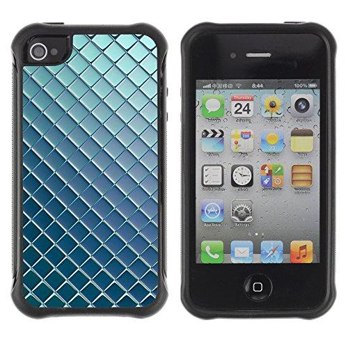 Graphic4You BLUE STRIPES Muster Harte Hülle Case Tasche Schutzhülle für APPLE IPHONE 4 und 4S Design #2