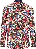 Shirtmaster Herren Hemd Hallucination (Hawaii-Hemd, Blumen-Muster) Gemustert 3XL (XXXL) - 47/48