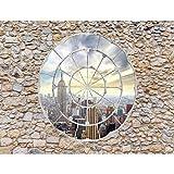 Fototapete Fenster nach New York Vlies Wand Tapete Wohnzimmer Schlafzimmer Büro Flur Dekoration Wandbilder XXL Moderne Wanddeko - 100% MADE IN GERMANY - Steinwand Fenster Runa Tapeten 9056010a