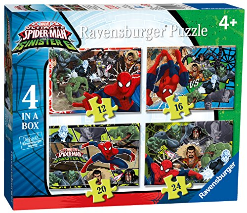Ravensburger Italy 06867 8 - Puzzle SpiderMan, 4 in a Box