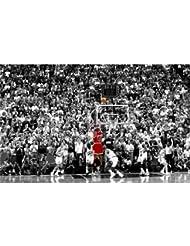 Michael Jordan Poster On Silk <96cm x 60cm, 38inch x 24inch> - Cartel de Seda - C2AE1E