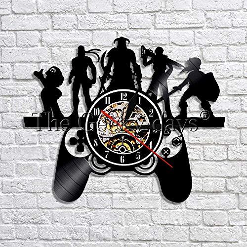 jiushixw Juego de rol Tema Reloj de Pared Estilo de Juego 3D Fuente Decorativa Registro Reloj de Pared Pulsera Regalo de Arte para Jugadores