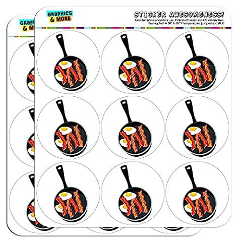 Bacon and Eggs White Breakfast 2 Scrapbooking Crafting Stickers by Graphics and More
