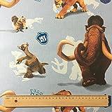 lizenziert von Fox–Ice Age Team in blau Premium Grade 100% Baumwolle feines Gewebe Kinder Vorhang Betten Stoff 142cm breit, Meterware,