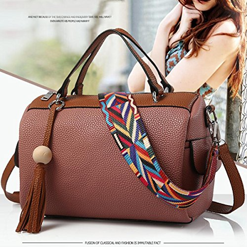 Borsa Signora Borsa A Tracolla Messenger Impresso Boston Bag Testa Chen rubberred
