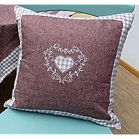 Cushions Kissenhülle Bestickt Hahn Henne Ostern Landhaus