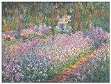 """Artopweb"""" Monet Jardin A Giverny Decorative Panel, Multi-Colour, 100x75 cm"""