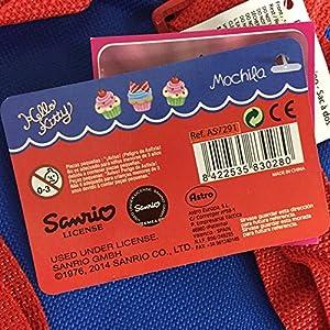 613yPNU3ZHL. SS300  - Hello Kitty 2018 Mochila Infantil, 28 cm, Multicolor