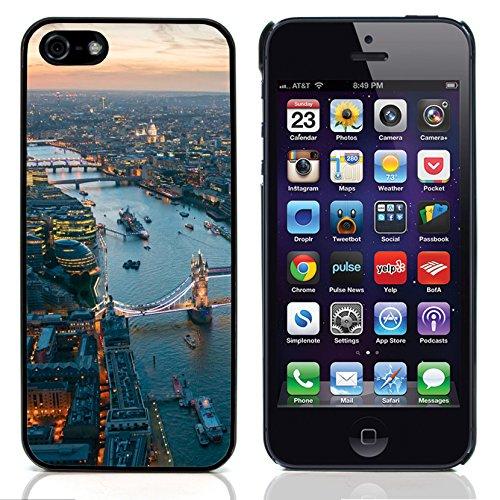 Graphic4You London UK Underground Postkarte Ansichtskarte Design Harte Hülle Case Tasche Schutzhülle für Apple iPhone 5 und 5S Design #3