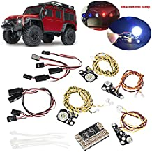 Espeedy control de la lámpara,1 conjunto LED delantero + luces traseras + grupo de lámparas IC + líneas de extensión para Traxxas Trx4 RC Car