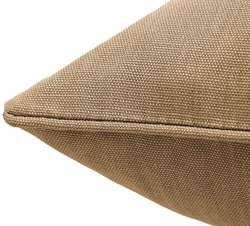 Retro Style Sofa Bed Chair Plain 100% Cotton Duck Canvas Cushion Cover Shell 18″X18″ (Taupe)