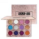 MAANGE Paletas de Sombras de Ojos Paletas de 12 Colores para Ojos...