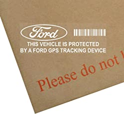 5 x FORD GPS/GPRS-Ortung Sicherheit Fenstertattoo 87 x 30 mm, Fiesta, Escort, Mondeo, Focus, Fusion, Ka, Mustang, Auto, Van, Alarm, Tracker
