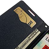 Mokons Dairy Wallet Flip Cover For Micromax A106 Unite 2 - Black
