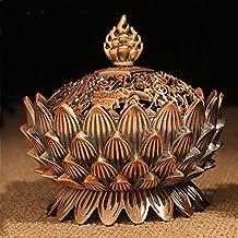 XIDUOBAO in lega di metallo a forma di fiore di loto con Bruciatore per incenso-Bruciatore per incenso con portacandela Censer-Buddhist Decor, decorazione per la casa. 02
