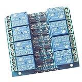 MagiDeal 8 Kanal Kanäle Relais Modul Brett Relaismodul mit Optokoppler 12V 10A