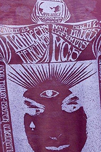 Costume National C'N'C Damen T-Shirt Verwaschen, Vintage Rundhals, MYSTERIE Card Bordeaux