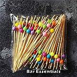 Fiesta 100 Stück verschiedene Stile Bambus Food Picks Obst Gabel Sticks Buffet Cupcake Toppers Bar Tools: L