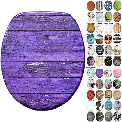 Sedile wc, grande scelta di belli sedili wc da legno robusto e di alta qualità (parete violetto)