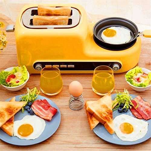 MXBAOHENG Kitchen 2 Slices Wide Slot Electric Bread Toaster Oven Eggs Breakfast Sandwich Maker Baking Pan Bakeware Household Cooking Tools