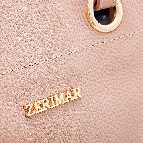 Zerimar Borse a mano da donna | 100% pelle alta qualità | Borsa della Signora | Borsa a mano | Borsa Grande | Borsa Piccola | Scomparti multipli Taupe