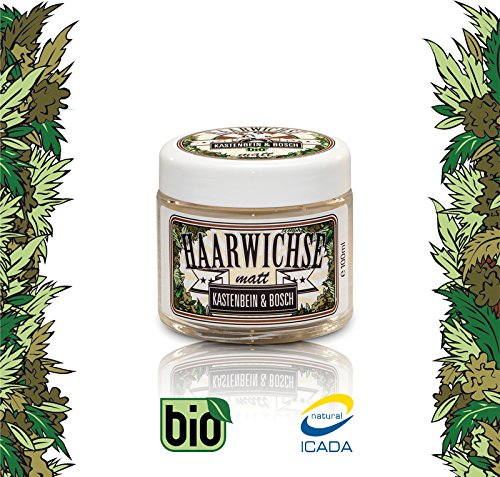 Bio Haarwichse / Haarwachs Matt - Haar-Wax für langen, unsichtbaren Halt für jedes Haar - Haarpflege & Haarstyling von Kastenbein & Bosch (1 x 100ml)