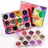 24Box Nail Art Decoration Glitter Paillette Dust Powder by Generic