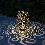 Solarlaterne für außen, Tomshine Dekorative Solarlampe Garten Laterne, IP44 Wasserdicht LED Solar Laterne Dekolampe für Draussen - 4