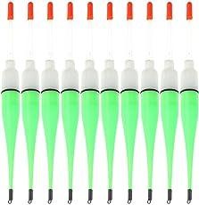 Zibuyu 10Pcs Plastic Luminous Floating Night Fishing Electronic Tackles Accessory