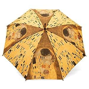 Parapluie Droit pour Femme Motif Art Gustave Klimt - Le Baiser