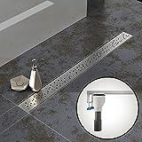 Komplett-SET - Duschrinne 70 cm AQUABAD® SDS Pro aus Edelstahl