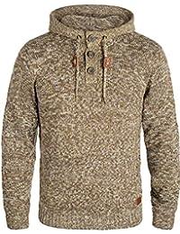 Blend Traidor Herren Winter Pullover Strickpullover Kapuzenpullover  Grobstrick Pullover mit Kapuze d656f0fab4