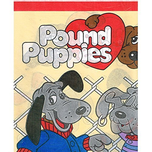 pound-puppies-vintage-1986-paper-table-cover-1ct-by-pound-puppies