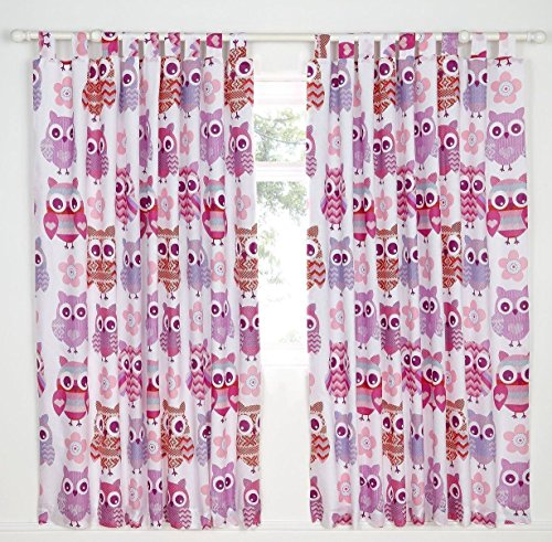 Catherine lansfield owl tende, colore rosa