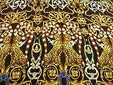 Viskose, Leoparden, Affen, Schlangen, Ornamente