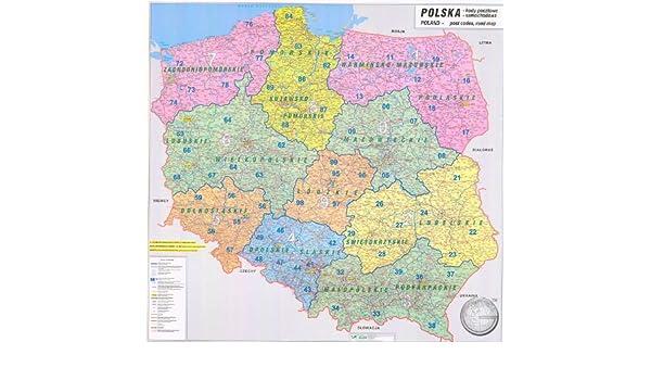 Amazon De Polen Postleitzahlenkarte 1 750 000 Landkarten Papier
