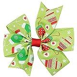 LEXUPE Baby-Weihnachtsverzierungen Bowknot-Haarnadel-Kopfschmuck(E,Free Size)