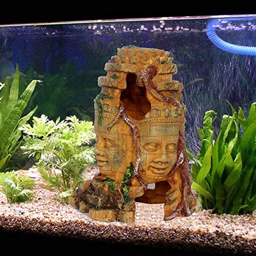 Bluelover Harz Aquarium Ornament Fish Tanks Landschaft Hide Rock Höhlenloch Dekorationen (Halloween Ast, Dekoration)