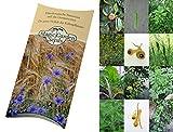 Saatgut Set: 'Mittelalter Garten', 7 Pflanzen für den mittelalterlichen Nutzgarten als Samen in schöner Geschenk-Verpackung