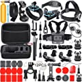 Leknes Outdoor Sports Essentials Kit for sj4000 sj5000 and GoPro Hero 5 4 3+ 3 2 1 in Parachuting Diving Surfing Rowing Running Cycling Camping