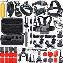 Leknes 54-in-1 Kit de accesorios Deportes al aire libre Bundle para GoPro Hero Session/GoPro hero 5 4 3+ 3 2 1 SJCAM SJ4000 SJ5000 SJ6000 Lightdow / Xiaomi Yi / WiMiUS / DBPOWER / Cámara de Acción APEMAN / Action Camera Campark