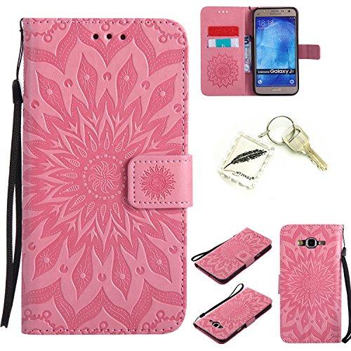 Preisvergleich Produktbild Silikonsoftshell PU Hülle für Samsung Galaxy J7 (2016) (5,49 Zoll) Tasche Schutz Hülle Case Cover Etui Strass Schutz schutzhülle Bumper Schale Silicone case+Exquisite key chain X1) #KC (1)