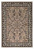 Klassischer Orientteppich Perserteppich Orientteppich - Ornamente Muster Webteppich Kurzflorteppich - in beige 200 x 290 cm