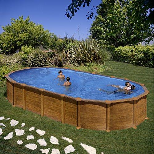 Piscina dream pool amazonia imitacion madera 7,30x3,75x1,32m KITPROV7388W