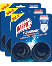 Harpic Flushmatic In-cistern Toilet Cleaner Twin-pack, Aquamarine - 100 g (Pack of 3)