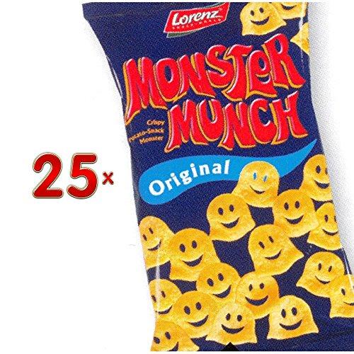 Lorenz Monster Munch Original 25 x 75g Tüte (Kartoffel-Chips in Monster-Form)